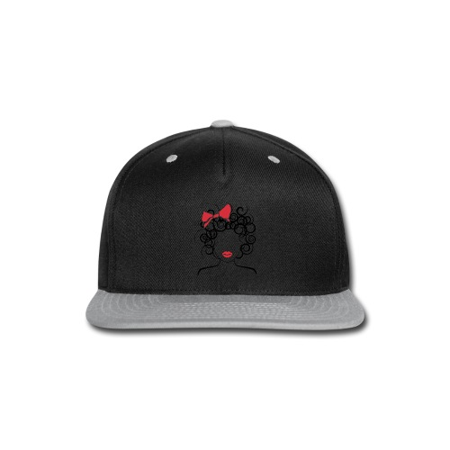 Curly Girl with Red Bow_Global Couture_logo T-Shir - Snap-back Baseball Cap