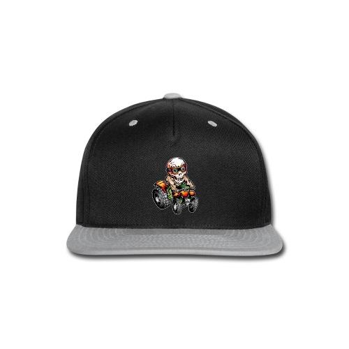 Off-Road ATV Skull Rider - Snap-back Baseball Cap