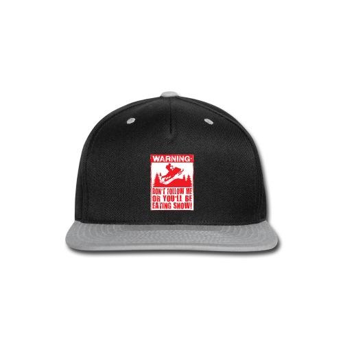 Snowmobile Warning - Snap-back Baseball Cap