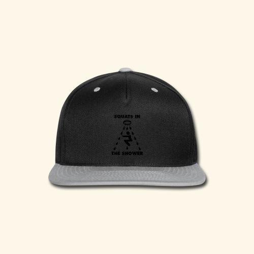 SQUATS IN THE SHOWER LOGO FINAL - Snap-back Baseball Cap
