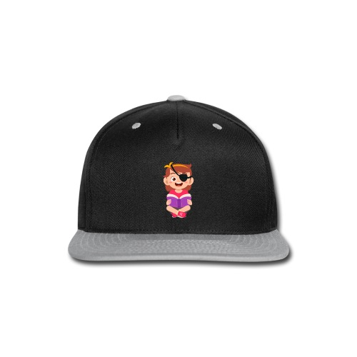 Little girl with eye patch - Snap-back Baseball Cap