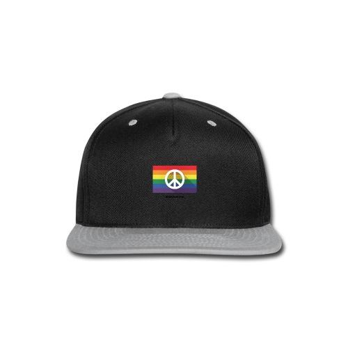 Peace pride dibbyrad - Snap-back Baseball Cap