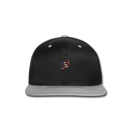 3D American Flag Claw Marks T-shirt for Men - Snap-back Baseball Cap