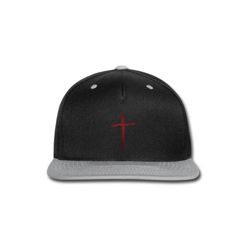 Old rugged distressed christian cross - Snap-back Baseball Cap