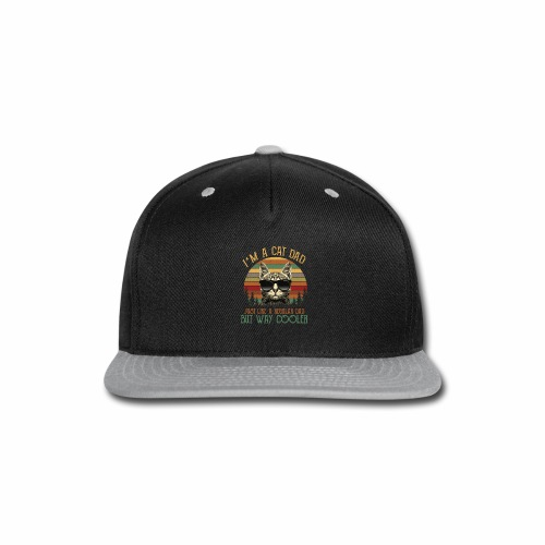 Cat lovers/Cat lover Art/Cat lover Clothing - Snap-back Baseball Cap