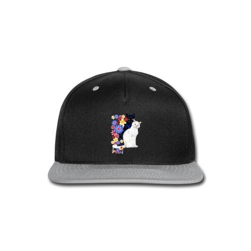 Black and White Garden Kitties.. - Snap-back Baseball Cap