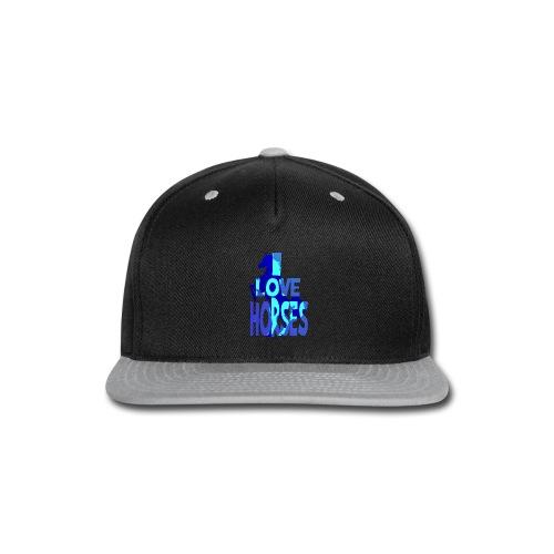 I Love Horses-blue - Snap-back Baseball Cap