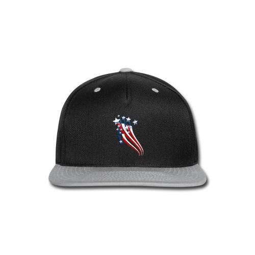 Sweeping American Flag - Snap-back Baseball Cap