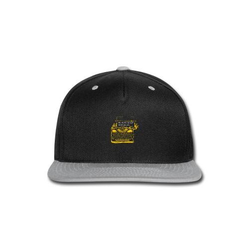 Yellow Typewriter - Snap-back Baseball Cap