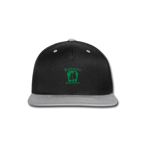 Delaware State Forest Keystone (w/trees) - Snap-back Baseball Cap