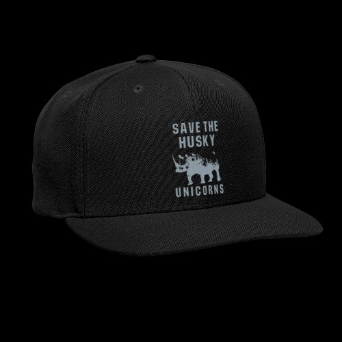 Save the Husky Unicorns | Funny Rhino - Snap-back Baseball Cap