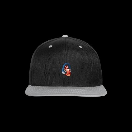 Heartbeats for Music Headphones - Snap-back Baseball Cap
