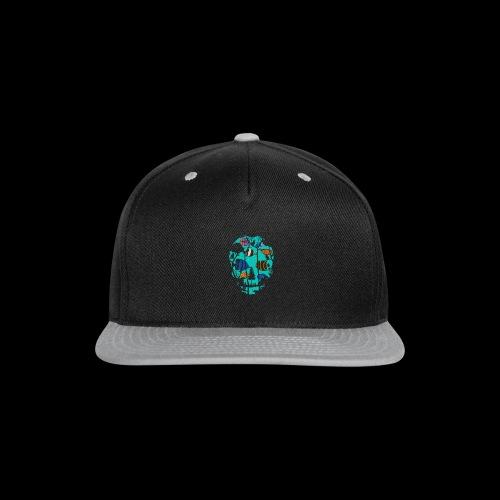 Underwater Skull - Snap-back Baseball Cap