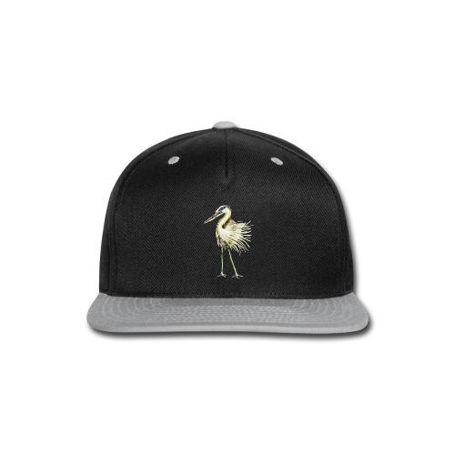Great Blue Heron - Snap-back Baseball Cap