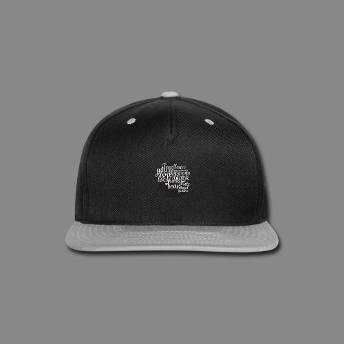 Afro Text II - Snap-back Baseball Cap