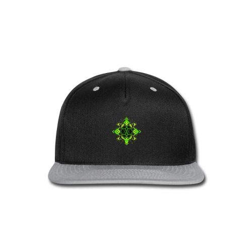 Design2_green - Snap-back Baseball Cap