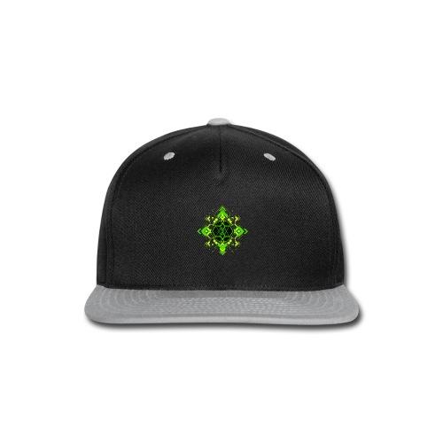 Design2_green - Snap-back Baseball Cap