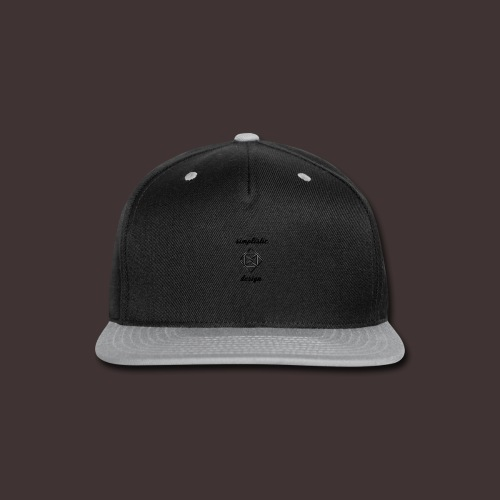 Simplistic Design Logo With Text - Snap-back Baseball Cap
