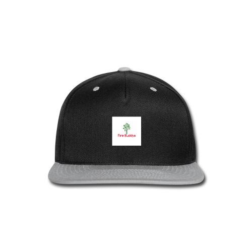 Fire Buddys Website Logo White Tee-shirt eco - Snap-back Baseball Cap