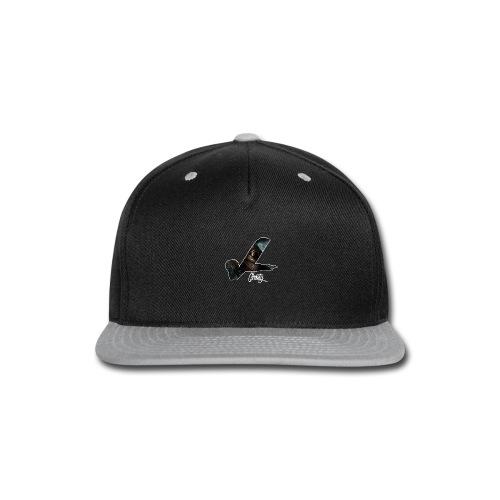 ghosty white outline - Snap-back Baseball Cap