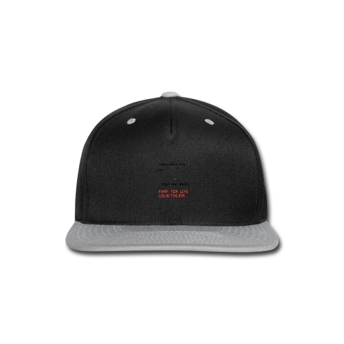 merch - Snap-back Baseball Cap