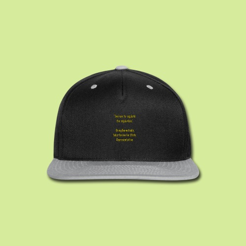 Slogan - Snap-back Baseball Cap