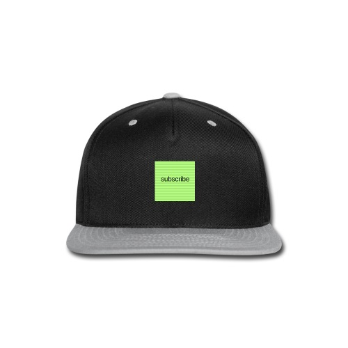 subscribe - Snap-back Baseball Cap