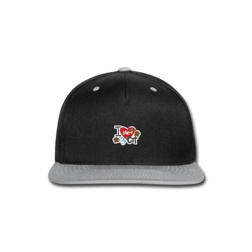 i love my cat - Snap-back Baseball Cap