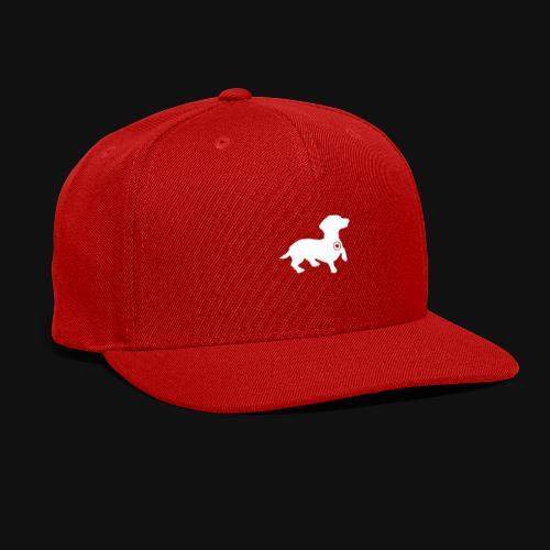 Dachshund silhouette white - Snap-back Baseball Cap