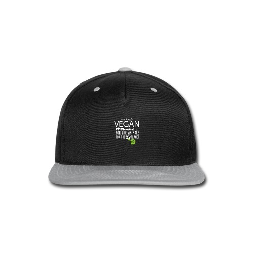unapologetic VEGAN - Snap-back Baseball Cap