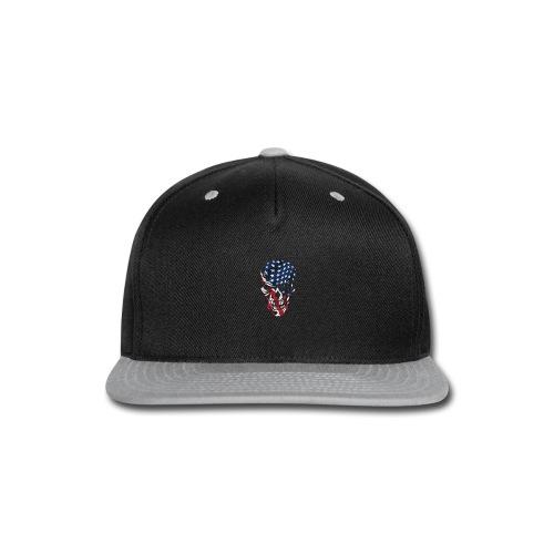 American Flag Skull - Snap-back Baseball Cap