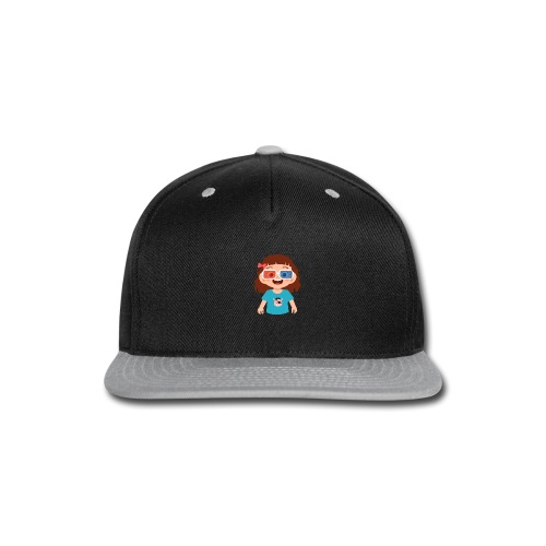Girl red blue 3D glasses doing Vision Therapy - Snap-back Baseball Cap