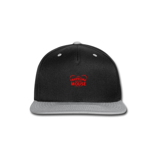 TravelingWithTheMouse logo transparent RED - Snap-back Baseball Cap