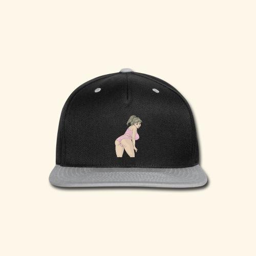 Curvy woman pin - Snap-back Baseball Cap