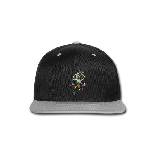 Zombie in Trouble Falling Apart - Snap-back Baseball Cap