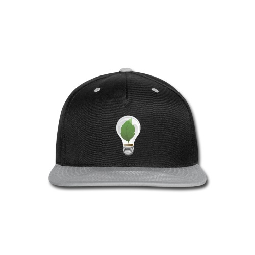 Clean Energy Green Leaf Illustration - Snap-back Baseball Cap