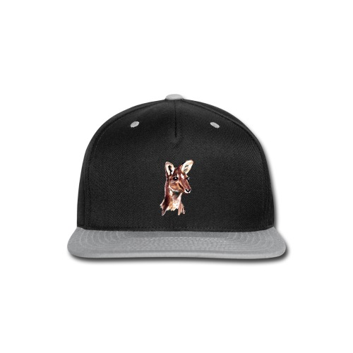 kangaroo face - Snap-back Baseball Cap