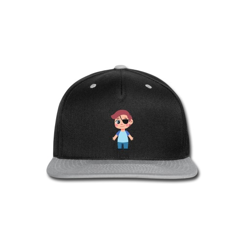 Boy with eye patch - Snap-back Baseball Cap