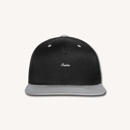 White Predrax Handwritten Cursive Edition - Snap-back Baseball Cap
