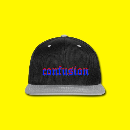 3D confusion - Snap-back Baseball Cap