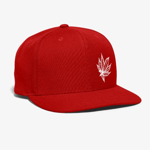 white leaf - Snap-back Baseball Cap