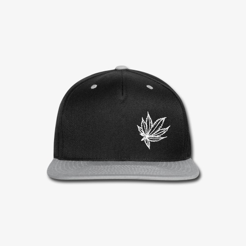 white leaf - Snap-back Baseball Cap