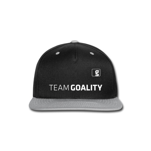 Team Goality T-shirt White Logo - Snap-back Baseball Cap