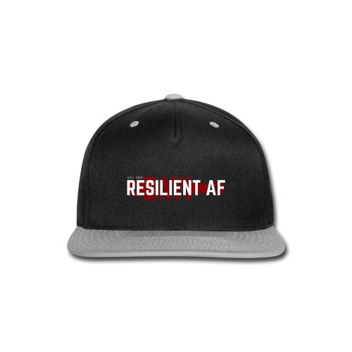 RESILIENT WHITE with red - Snap-back Baseball Cap
