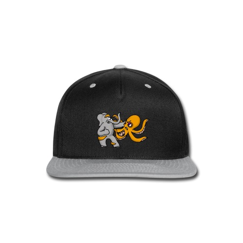 Elephant vs. Octopus Mug - Snap-back Baseball Cap