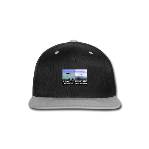 tshirt i want to believe with back Crew Logo - Snap-back Baseball Cap