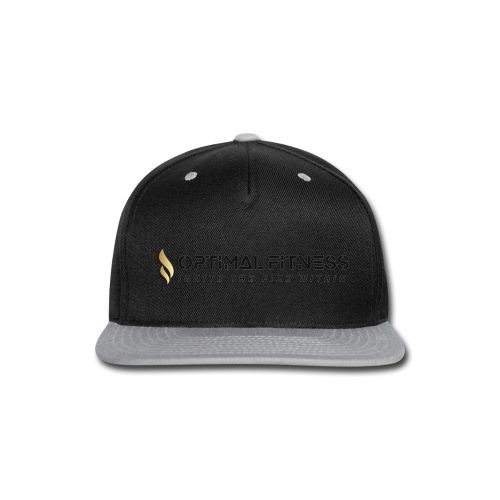 black logo, keep calm and hiit it black - Snap-back Baseball Cap