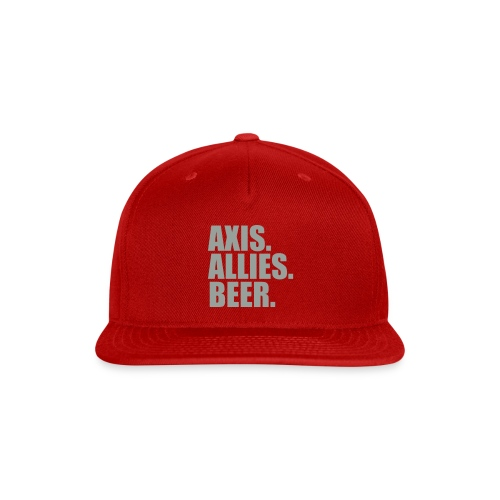 Axis. Allies. Beer. Axis & Allies - Snap-back Baseball Cap