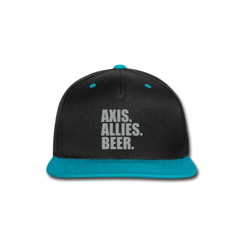 Axis. Allies. Beer. Axis & Allies - Snap-back Baseball Cap