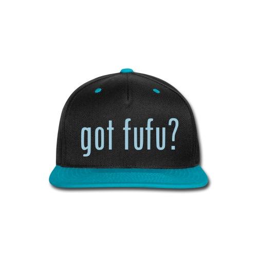 gotfufu-white - Snap-back Baseball Cap